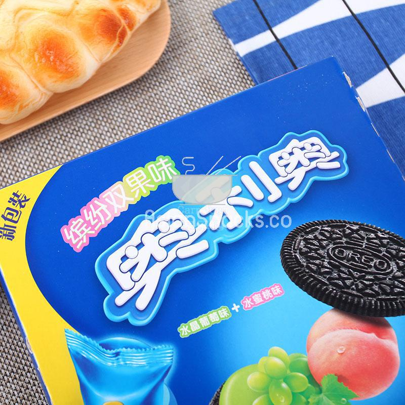 Peach Mixed Colors Snack Food 奥利奥葡萄水蜜桃饼干 97g Oreo Fruit Biscuits Cookies Grape
